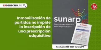 Inmovilización de partidas no impide la inscripción de una prescripción adquisitiva