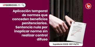 Aplicación temporal de normas que conceden beneficios penitenciarios. Sentencia nula por inaplicar norma sin realizar control difuso