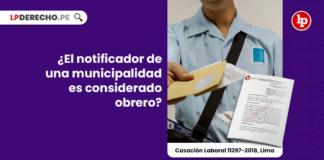¿El notificador de una municipalidad es considerado obrero?