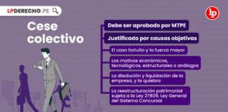Cese colectivo con logo de LP Derecho