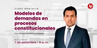 Clase gratuita sobre modelos de demandas en procesos constitucionales