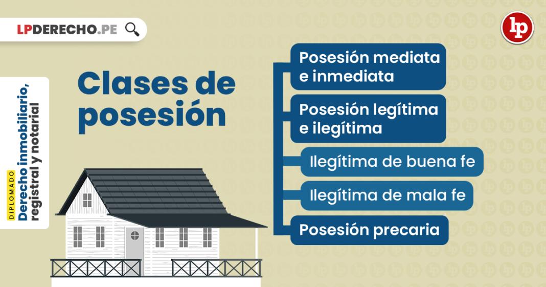 Clases de posesión: mediata-inmediata; legítima-ilegítima; y precaria