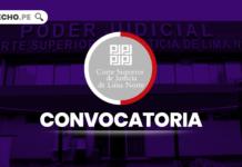 Corte Superior de Lima Norte convocatoria con logo de LP