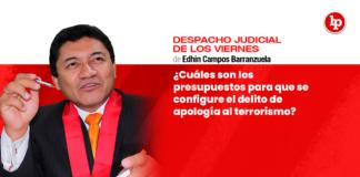 ¿Cuáles son los presupuestos para que se configure el delito de apología al terrorismo?