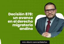 Decision 878 migratorio con logo de LP