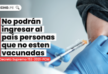 No podrán ingresar al país personas que no esten vacunadas