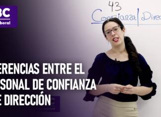 Diferencias entre el personal de confianza y de direccion con logo de LPDerecho