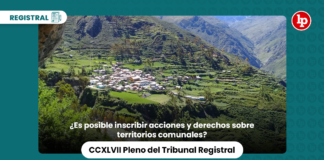 ¿Es posible inscribir acciones y derechos sobre territorios comunales?