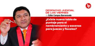 ¿Existe nueva tabla de puntaje para el nombramiento y ascenso para jueces y fiscales?