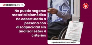 No puede negarse material biomédico no coberturado a persona con discapacidad sin analizar estos criterios
