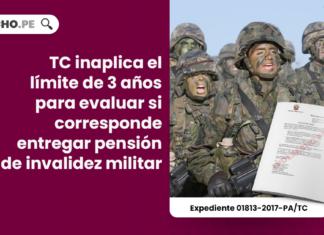 TC inaplica el límite de 3 años para evaluar si corresponde entregar pensión de invalidez militar