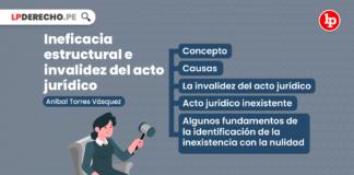 Ineficacia estructural e invalidez del acto jurídico