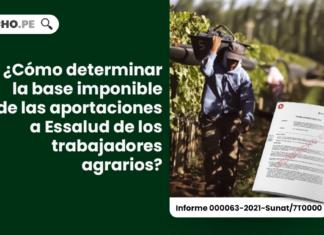 ¿Cómo determinar la base imponible de las aportaciones a Essalud de los trabajadores agrarios?