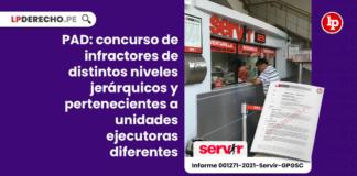 PAD: concurso de infractores de distintos niveles jerárquicos y pertenecientes a unidades ejecutoras diferentes