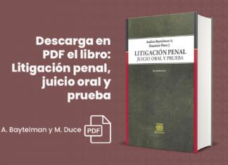 Descarga en PDF el libro: Litigación penal, juicio oral y prueba de A. Baytelman y M. Duce