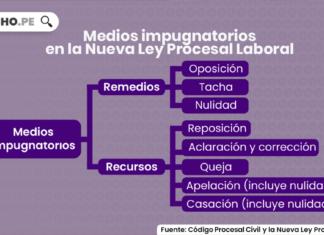 Medios impugnatorios en la Nueva Ley Procesal Laboral con logo de LP