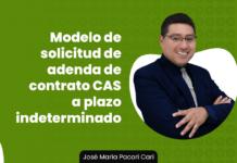 Modelo de solicitud de adenda de contrato CAS a plazo indeterminado