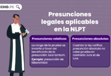 Presunciones legales aplicables en la NLPT