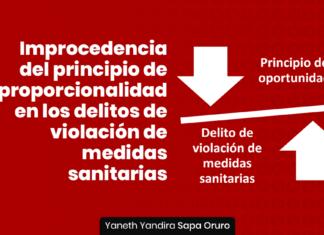 Improcedencia del principio de proporcionalidad en los delitos de violación de medidas sanitarias