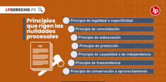 Principios que rigen el laberinto de las nulidades procesales en nuestro ordenamiento juridico con logo de LP