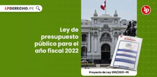 Ley de presupuesto público para el año fiscal 2022