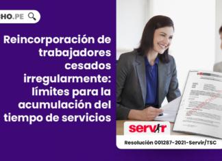 Reincorporación de trabajadores cesados irregularmente: límites para la acumulación del tiempo de servicios