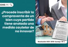 ¿Procede inscribir la compraventa de un bien cuya partida tiene anotada una medida cautelar de no innovar?
