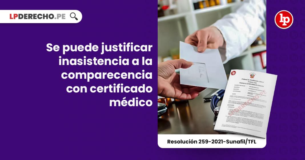 Se puede justificar inasistencia a la comparecencia con certificado médico