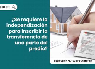¿Se requiere la independización para inscribir la transferencia de una parte del predio?