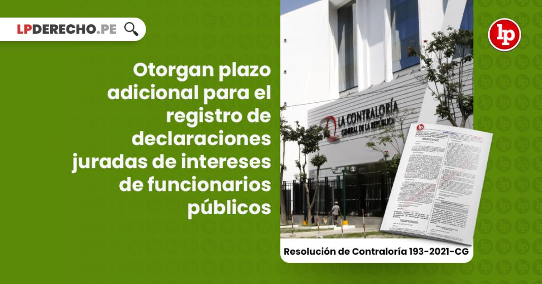 Otorgan plazo adicional para el registro de declaraciones juradas de intereses de funcionarios públicos