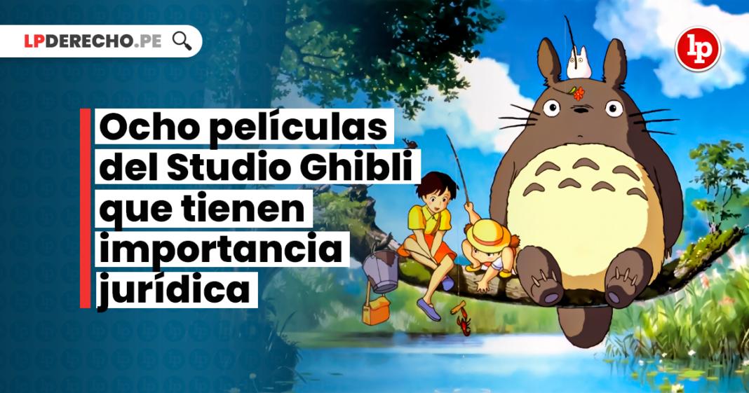 Ocho películas del Studio Ghibli que tienen importancia jurídica