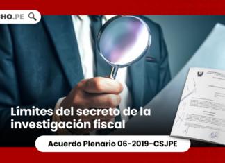 Límites del secreto de la investigación fiscal