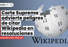 Corte Suprema advierte peligros de citar Wikipedia en resoluciones