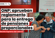 ONP: aprueban reglamento para la entrega de pensiones proporcionales
