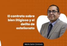 El contrato sobre bien litigioso y el delito de estelionato