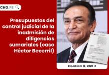 Presupuestos del control judicial de la inadmisión de diligencias sumariales (caso Héctor Becerril)