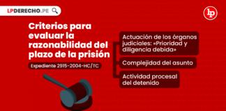 Criterios para evaluar la razonabilidad del plazo de la prisión preventiva [Exp. 2915-2004-HC/TC]