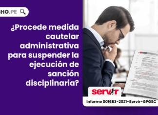 ¿Procede medida cautelar administrativa para suspender la ejecución de sanción disciplinaria?