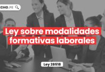 Ley sobre modalidades formativas laborales (Ley 28518)