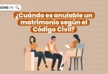 ¿Cuándo es anulable un matrimonio según el Código Civil?